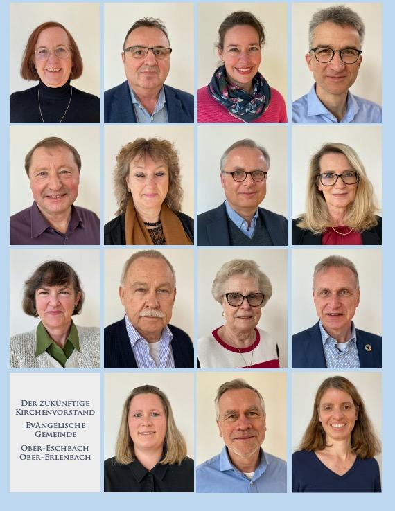 Die 15 Kandidierende für die Kirchenvorstandswahl